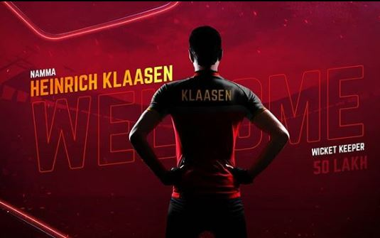 IPL Auctions 2019 RCB: New Entries in Royal Challengers Bangalore henrich klaasen