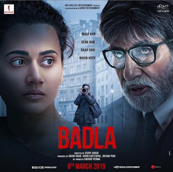Badla Movie: Trailer In Trending, Amitabh & Taapsee In Lead Roles | poster