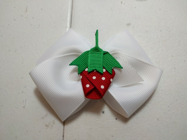 "Strawberry on 1.5"" Ribbon Boutique"