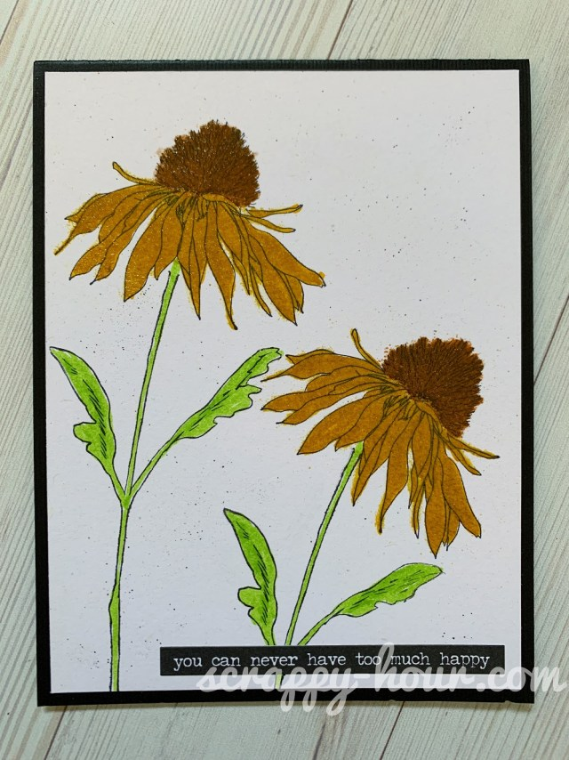 Shiny Sunflowers Card 1