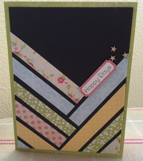 black strip card