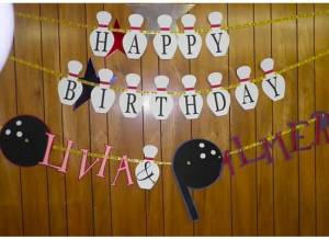 Fancy Birthday banners - custom to your theme.
