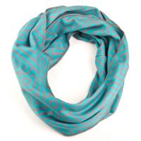 Tapestry Infinity Scarf - Aqua/Gray - Scrappy Products