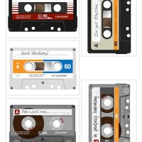 Casette tape printables for Project Life