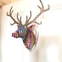 Too hipster? Gelli ® print deer head