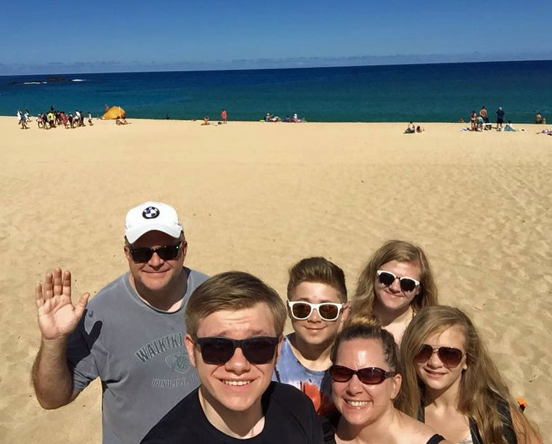 McGraw family at the beach.