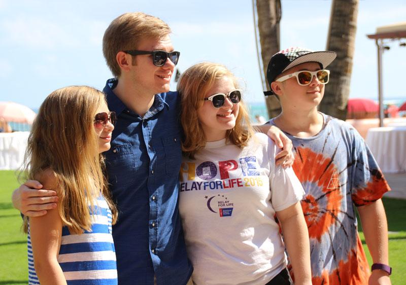 McGraw kids in Hawaii (20, 17, 13, 12)