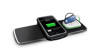 3x Wireless Charging Mat with Universal Powercube (PMM-3PA-B1) | Powermat
