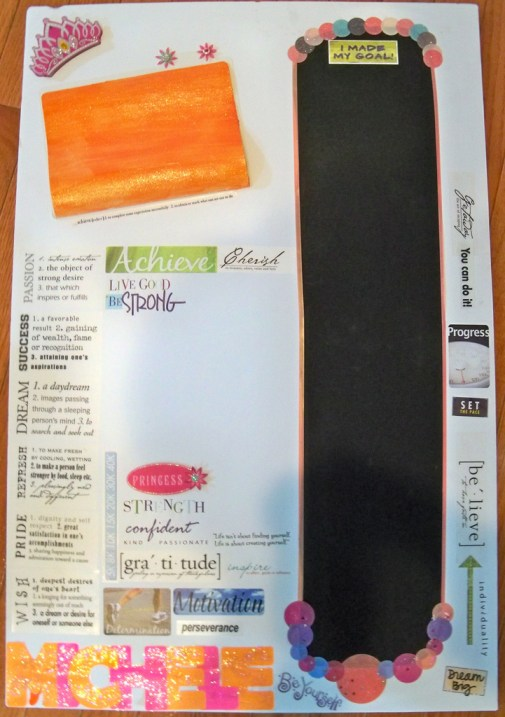 Chalkboard Goal Chart on Elmer's Foam Board Educational Craft