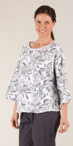 BlogHer Tahitian Flower Travel Tunic Fresh Produce