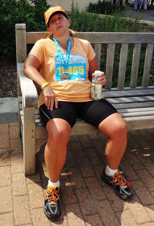 finished running my first half marathon