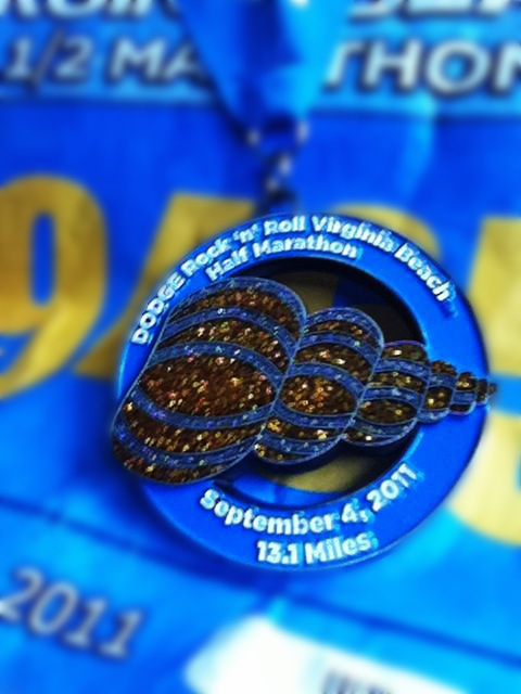 Medal for running my first half marathon