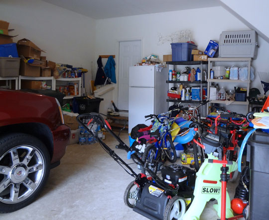 Garage organization system makeover before and after
