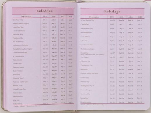 momagenda mini-daily holidays list