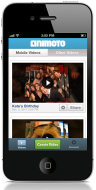 animoto iphone app