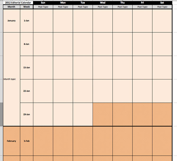 2014 Editorial Calendar Template Free Download | Scraps Of My Geek