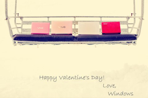 Valentine's Card made with Windows paint