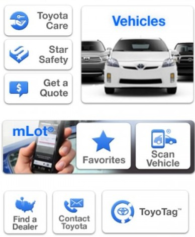Toyota Shopping app iphone