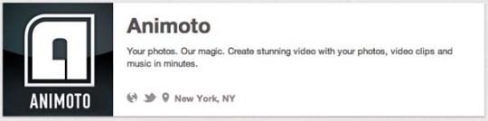 animoto tech companies on pinterest video