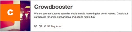 crowdbooster tech companies on pinterest brands