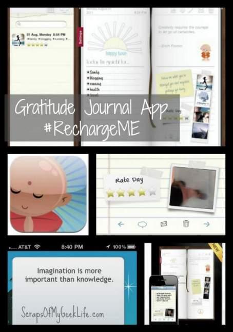 Gratitude Journal app #RechargeME