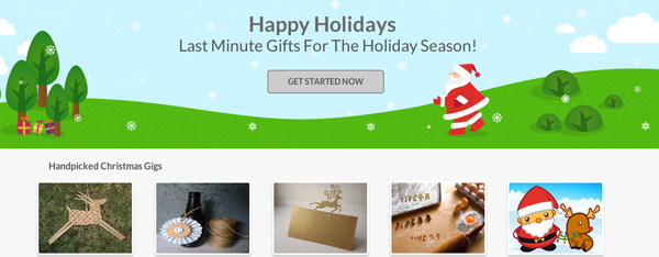 last minute christmas gifts at Fiverr