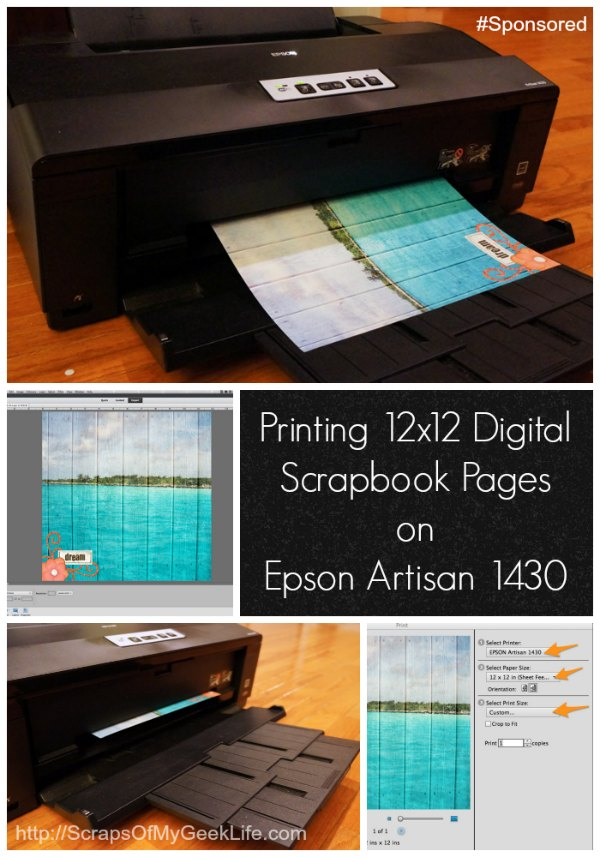 Printing 12x12 Digital Scrapbook Pages On Epson 1430 Sponsored