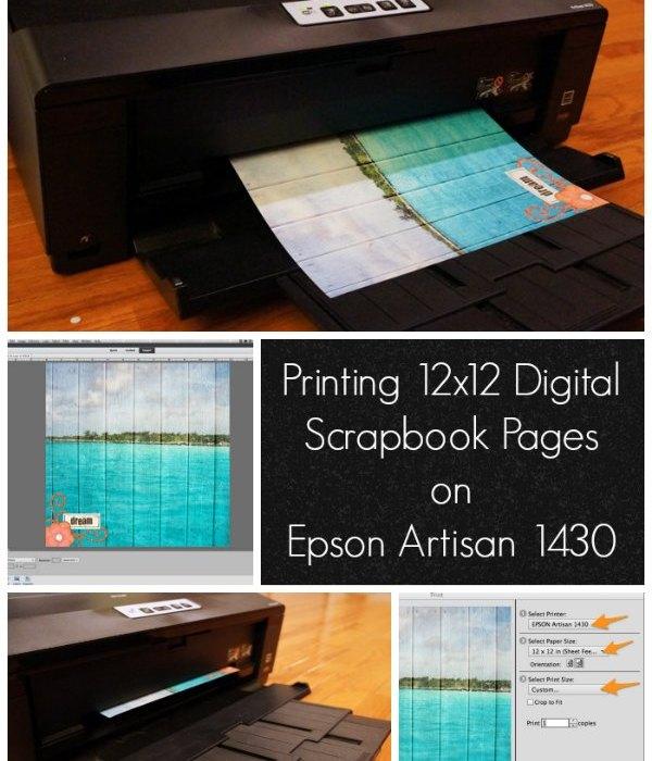 printing digital scrapbook pages