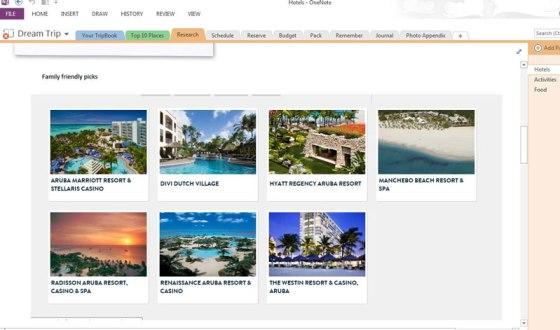 hotel research onenote travel planning get it done office 365