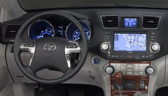 toyota highlander hybrid interior