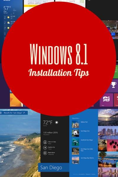 windows 8.1 installation tips