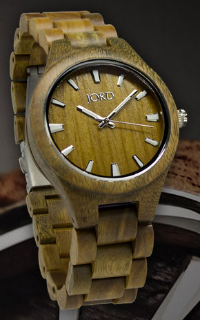 Natural Green Wood Watch