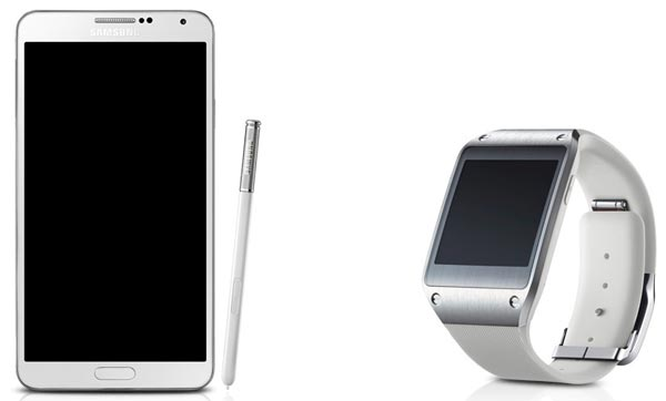 Samsung Galaxy Note 3 and Galaxy Gear