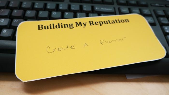 building your reputation reminder