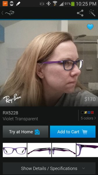more information about frames on glasses.com