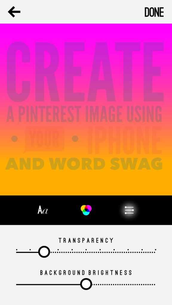 create a pinterest image optinos