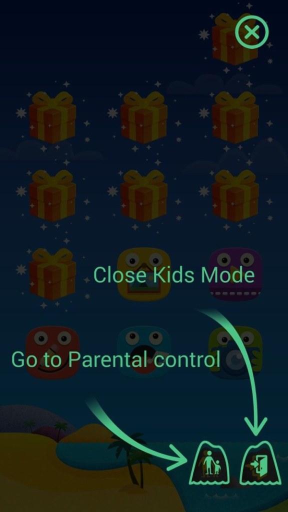 Main Kids Mode screen