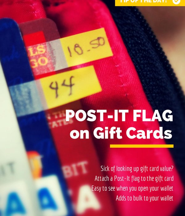 Keep track of gift card balance
