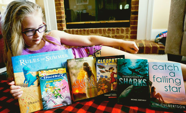 Summer books we received form Scholastic