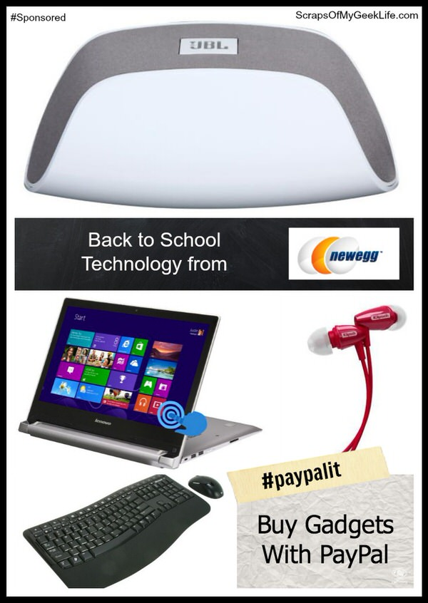 Buy tech for back to school from Newegg using PayPal #paypalit