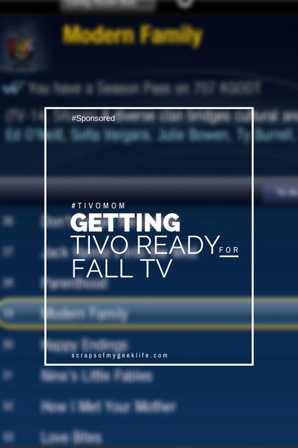Getting Your TiVO Ready for the Fall TV Season #TiVOMom #Sponsored