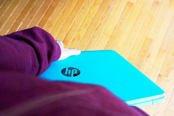 HP Chromebook on the go