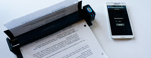 Use the ScanSnap iX100 to scan paper straight to your mobiel device. iOS & Android