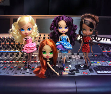 The Beatrix Girls in the studio