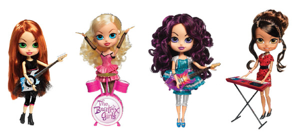 The Beatrix Grils pop-star band dolls are great for playing and empowering girls. Shows girls with hard work and determination and believing in themselves, they can do it! #sponsored
