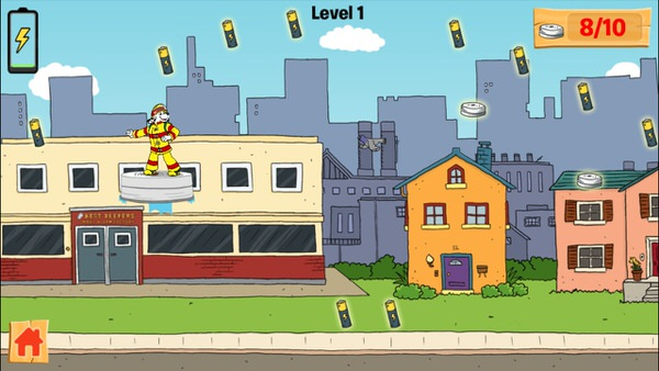 Sparky fire prevention educational game