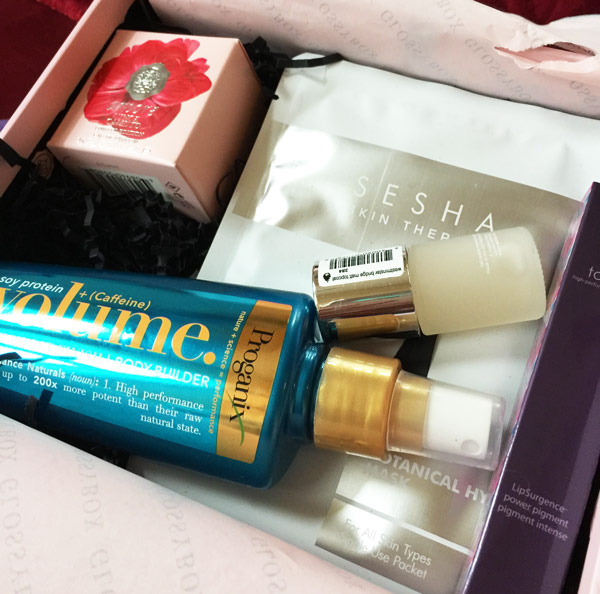 Glossybox monthly subscription to a gorgeous box of luxury brands just for you.