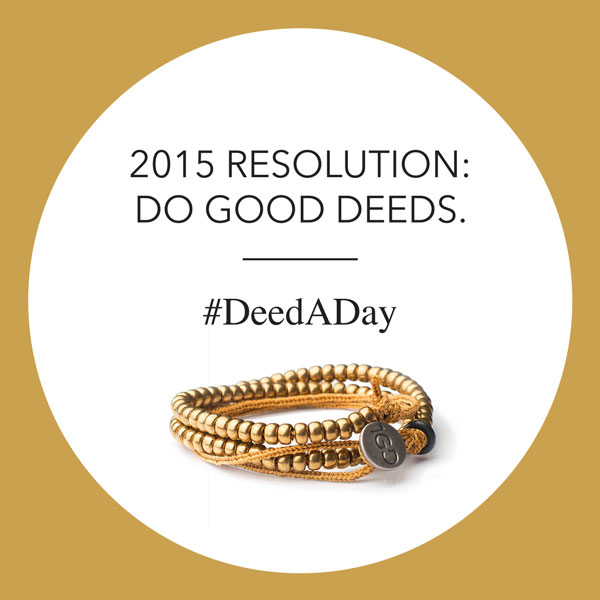 Have you heard of @The1GDBracelet? Get one for you & someone else to start the #DeedADay movement: http://bit.ly/100GDdeedADay