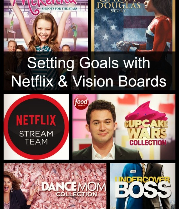 Setting goals with Netflix and vision boards. Find streaming shows to help you set and achieve your goals. #StreamTeam #spon