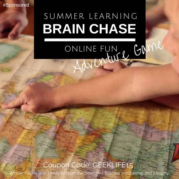 Brain Chase is a 5 week online learning adventure for kids in 2nd through 8th grade. It is a treasure hunt where kids read, write and do math to progress through the adventure. This helps prevent the summer brain drain. The adventure is personalized for each child as they hut for a golden mechanical treasure. #BrainChase #spon #AdventureLearning #couponcode